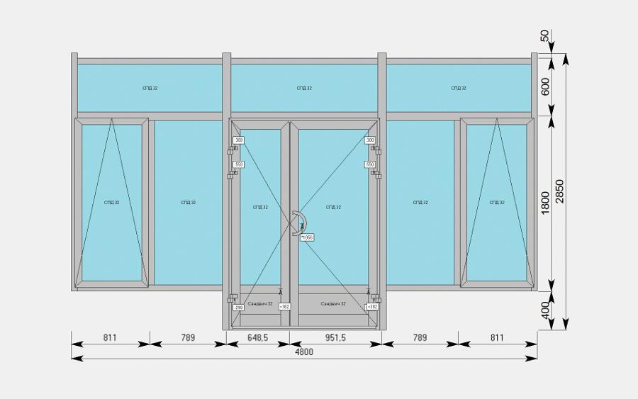 Окно проектирования конструкций
